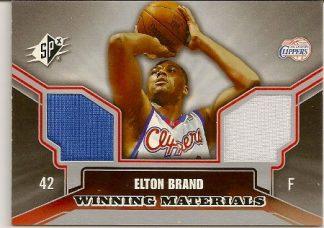 Elton Brand 2005-06 SPX Winning Materials Dual Jersey Card