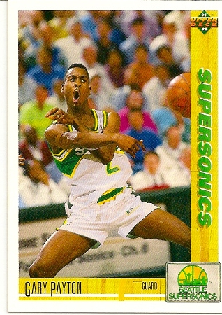 Gary Payton 1991 92 Upper Deck Basketball Card Archives Basketball