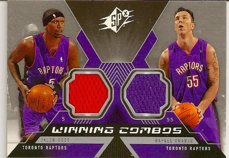 Jalen Rose 2005-06 SPX Winning Combos Jersey Basketball Card 5e1654ae8