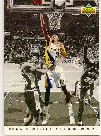 Reggie Miller 1992-93 Upper Deck Team MVP Basketball Card