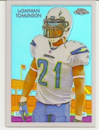 LaDainian Tomlinson 2009 Topps Chrome Football Stars Refractor /100
