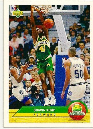 Shawn Kemp 1992-93 Upper Deck McDonald's Basketball Card