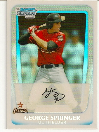 george-springer-2011-bowman-chrome-refractor-rookie-card