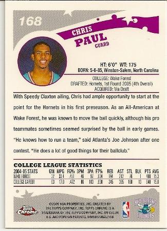 Chris Paul 2005-06 Topps Chrome