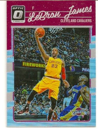 LeBron James 2016-17 Donruss Optic Silver Holo Refractor Card #15
