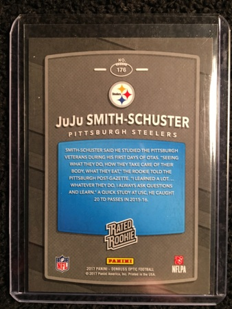 Juju Smith-Schuster 2017 Donruss Optic Rookie Card Back